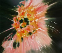 Burst, 2010, oil/canvas, 60x70 inches