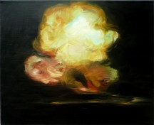 Explosion, Black and Yellow, 2009, oil on canvas, 26x32 inches. In: Canteen Magazine, Issue 6 (2010).