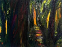 Forest, 2013, oil/canvas, 12x16 inches