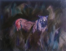 Lioness (Night Vision), 2012, oil/canvas, 14x18 inches