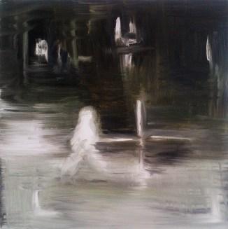 Predator 2, 2012, oil/canvas, 14x14 inches