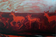 (Infra)Red Herd, 2014, oil /canvas, 20x30 inches