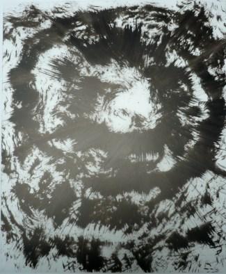 12-Big Burst 19, 2011, Japanese ink on vellum 17x14 inches