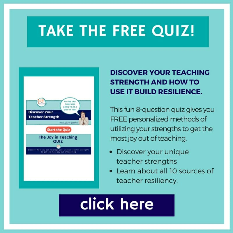 Take the Joy in Teaching quiz today