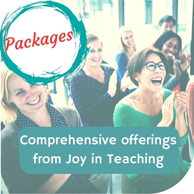 Professional Development Packages from Joy in Teaching