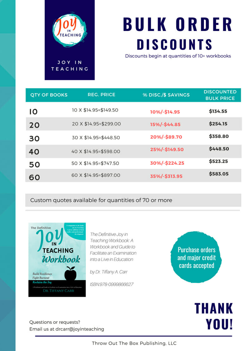 Bulk Order Discounts for Workbook Pricing