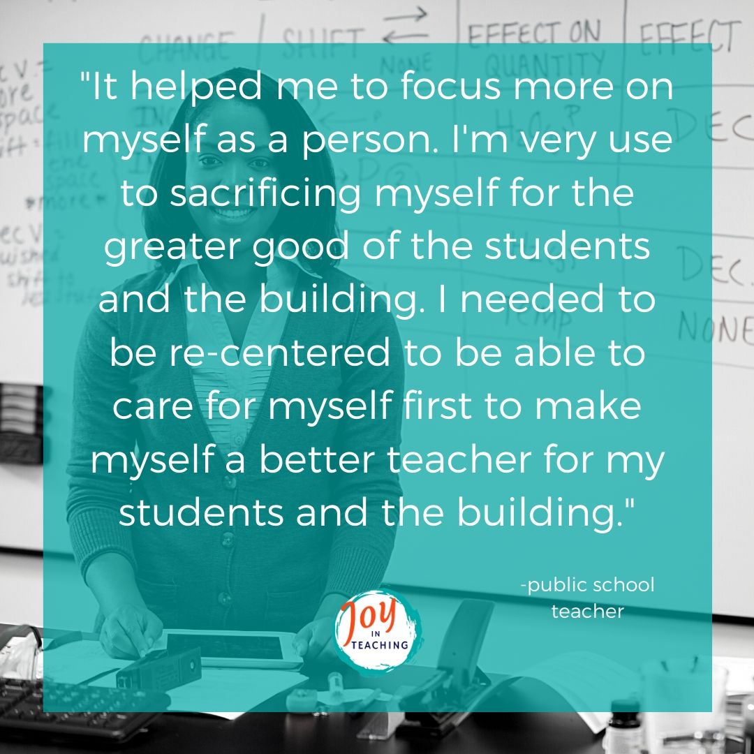 Joy in Teaching Testimonial