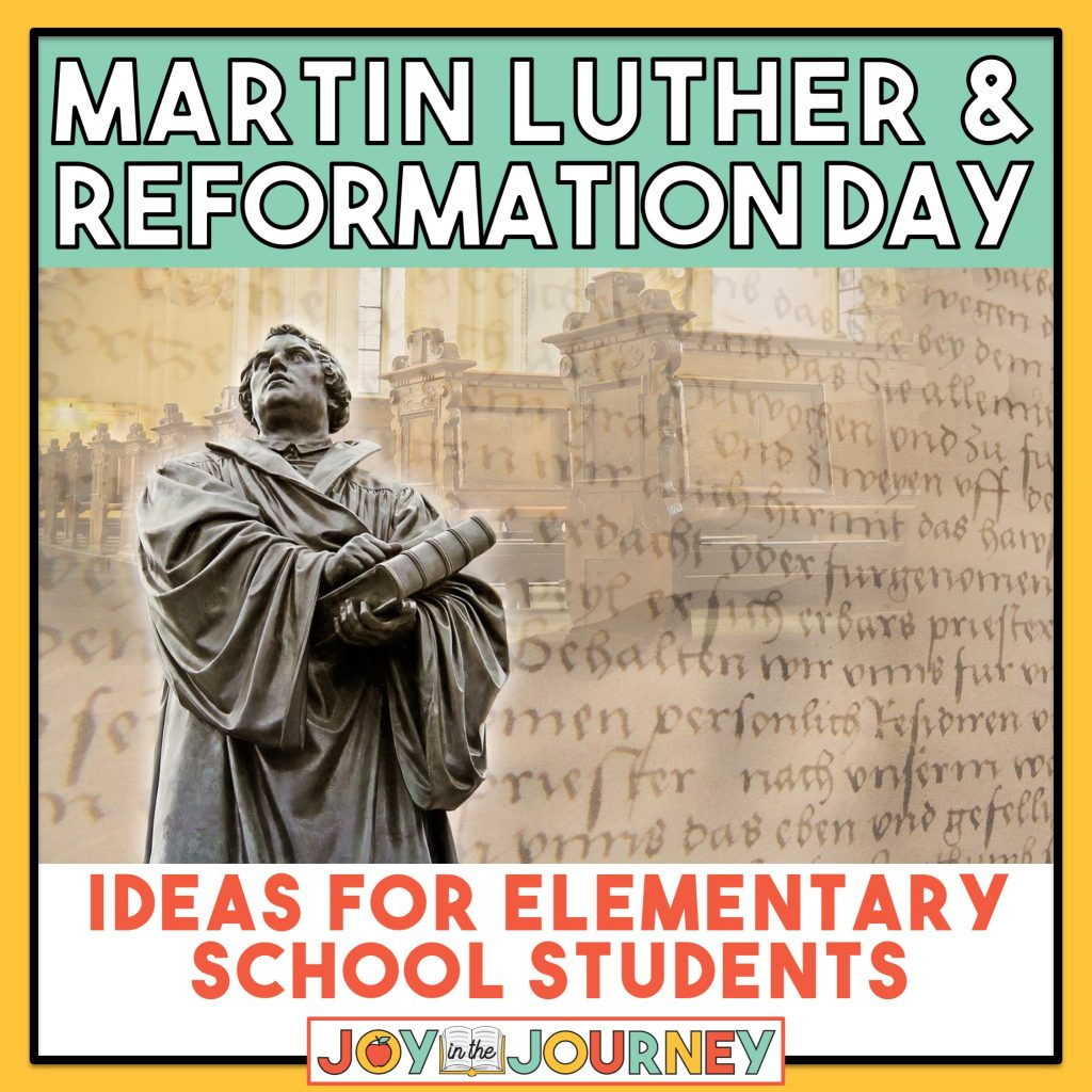 Martin Luther Reformation Day Activities For Kids