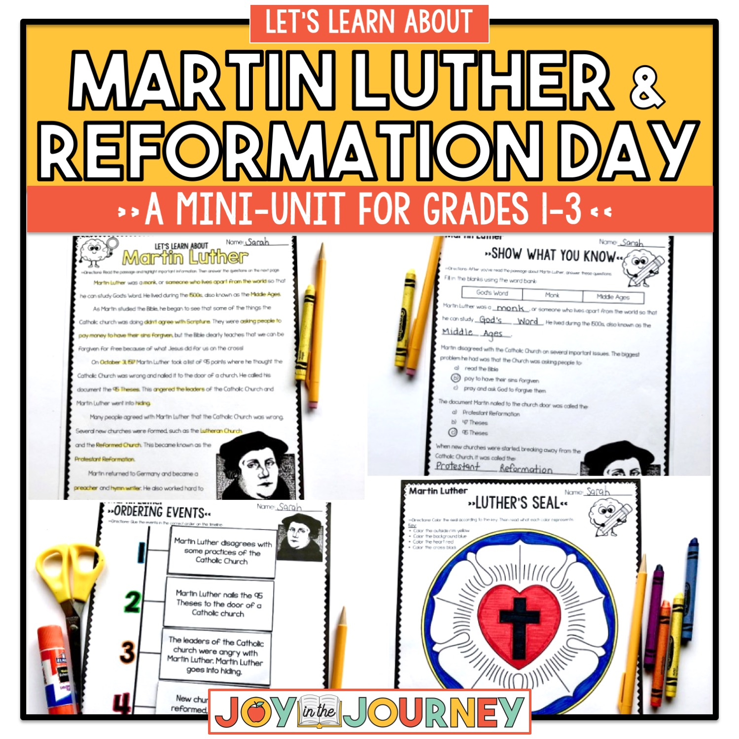 Martin Luther And Reformation Day For Grades 1 3