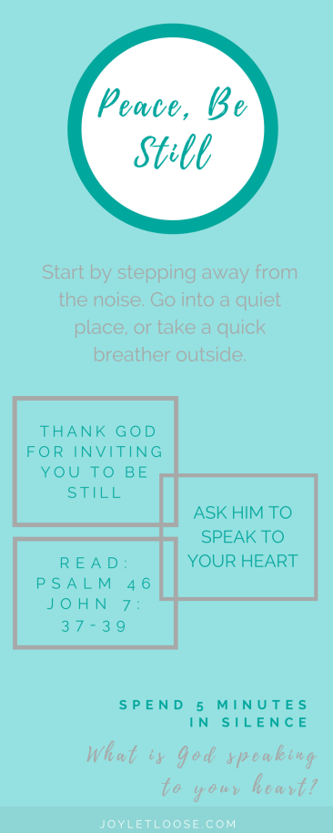 Steps to a quiet heart with God