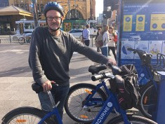 William Parkinson, an annual subscriber to Melbourne bike share. Photo: Sijia Huang