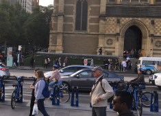 The usage of Melbourne bike share is increasing because of the courtesy helmets trial. Photo: Sijia Huang