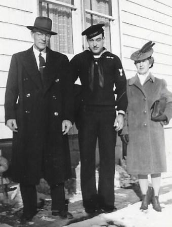 Clabe, Delbert, and Leora Wilson, Feb. 2, 1943, Minburn.