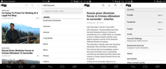 Digg Android App
