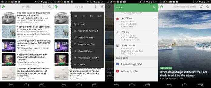 Leitor RSS Feedly Android