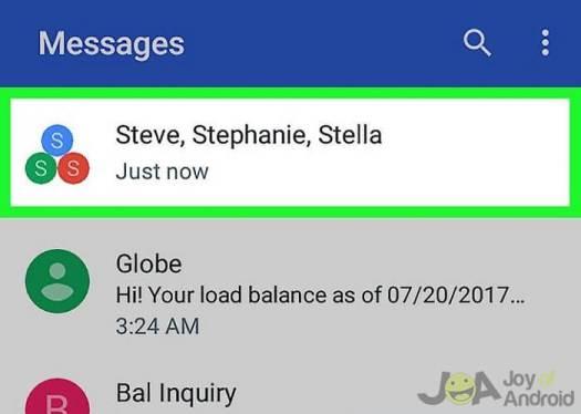 mensagens de grupo no Android