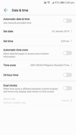 UI de data e hora do Android