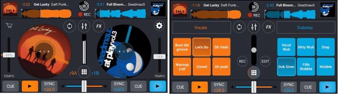 Interface do usuário do Cross DJ