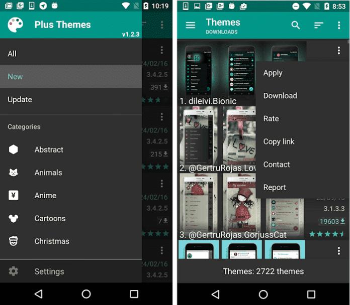 Tema de mensagens adicionais Download da interface do usuário