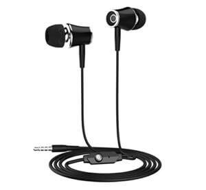 fones de ouvido com fio preto