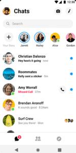 Melhores aplicativos VOIP e aplicativos SIP para Android - Facebook Messenger - Main Interface