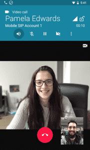 Melhores aplicativos de VoIPs e aplicativos SIPs no Android - Zoiper IAX SIP Softphone VoIP - Chamada de vídeo