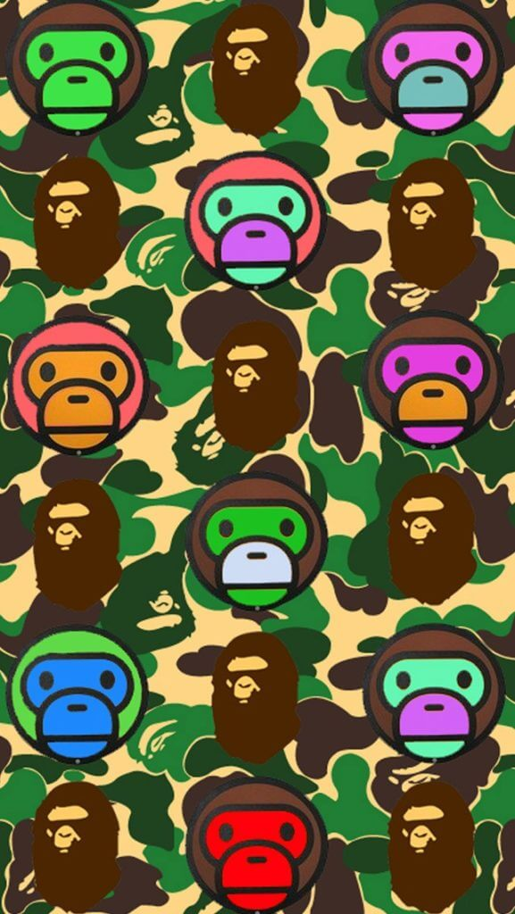 Camouflage Iphone Wallpaper 18 Best Bape Wallpapers For Iphone Xs X 8 7 Amp 6 Joy