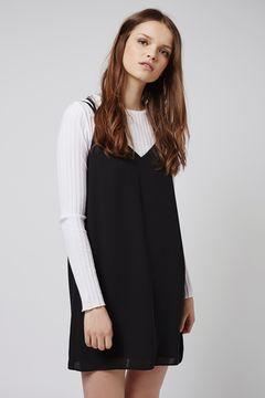 Black slip dress. Pic: Topshop.com