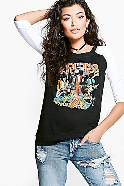 Long sleeve Rolling Stone t-shirt. Pic: Boohoo.com