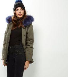 Blue Fur Hood Parka. Pic: New Look.com