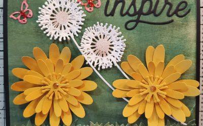 DANDY LION INSPIRE FLOWER CARD – ONLINE CARD CLASS