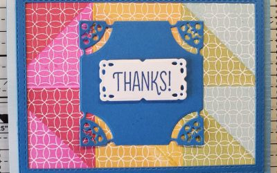 Thanks Triangle Card – Stampin' Up! – Free Stamp See Below