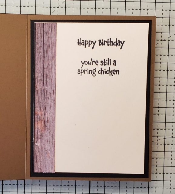Hey Birthday Chick Card Stampin Up