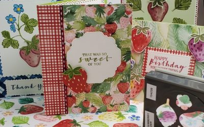Sweet Strawberry Card Stampin Up