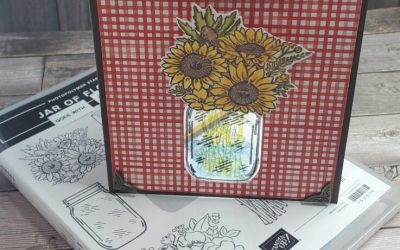 Laminated Jar of Flowers Stampin Up