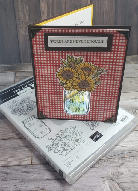 Laminated Jar of Flowers Stampin Up
