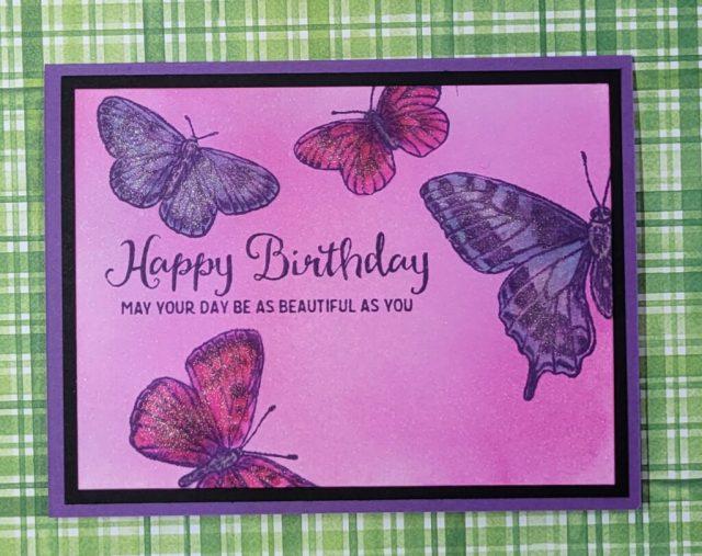 Butterfly Brilliance Birthday Card