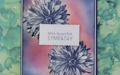 Stampin Up Sympathy Card Featuring Delicate Dahlias