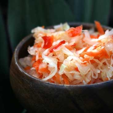 carrot bell pepper sauerkraut