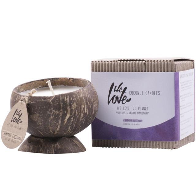 椰子大豆蠟蠟燭迷人的栗子-天然香氛,吸進好氣息