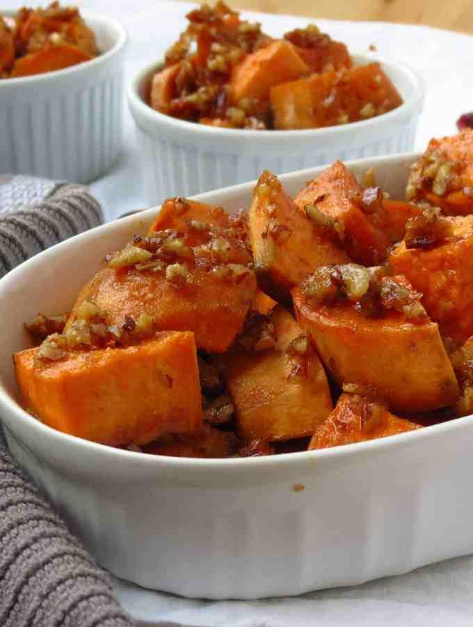 Brown Sugar Pecan Roasted Sweet Potatoes