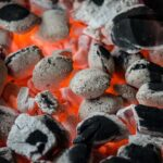 Charcoal over fire