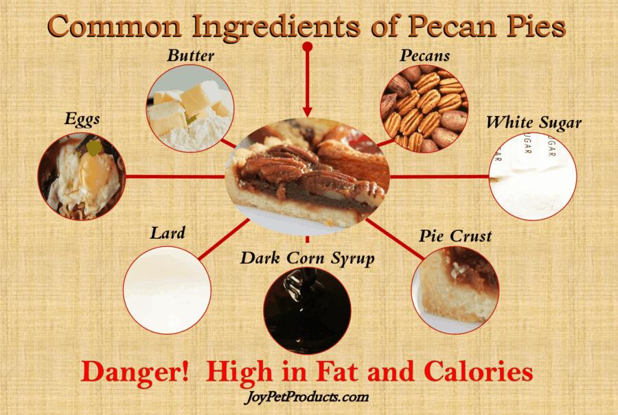Pecan pie ingredients infographic