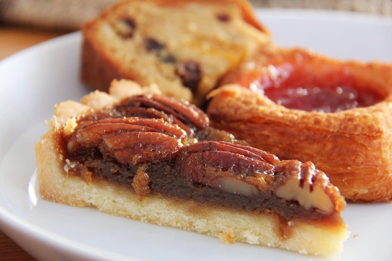 A slice of pecan pie