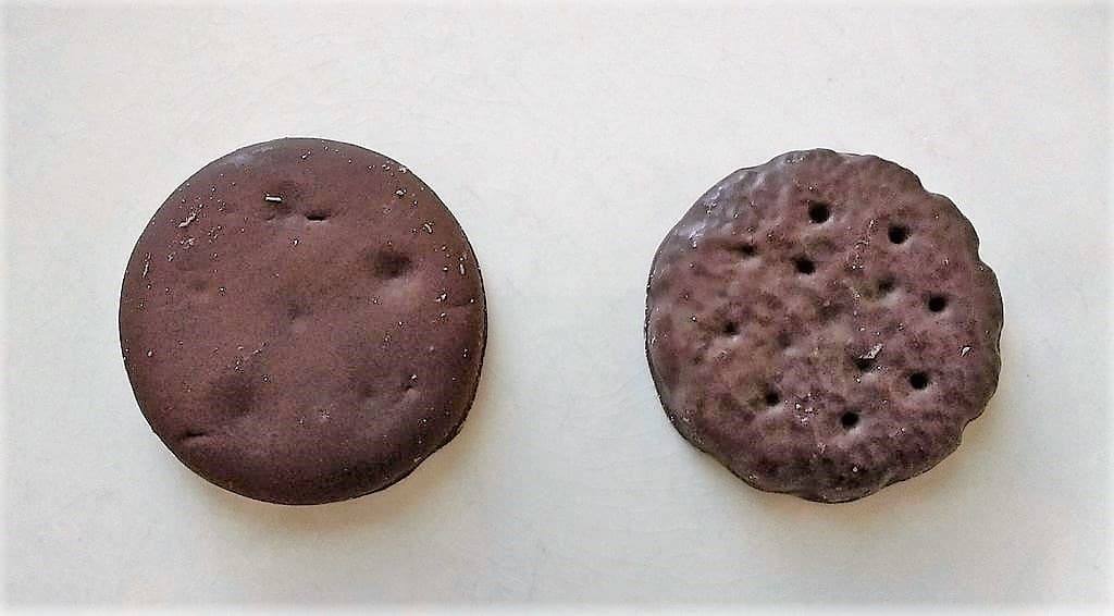 Two pieces of Thin Mints
