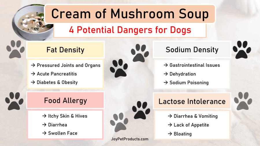 Cream of mushroom soup dangers infographic