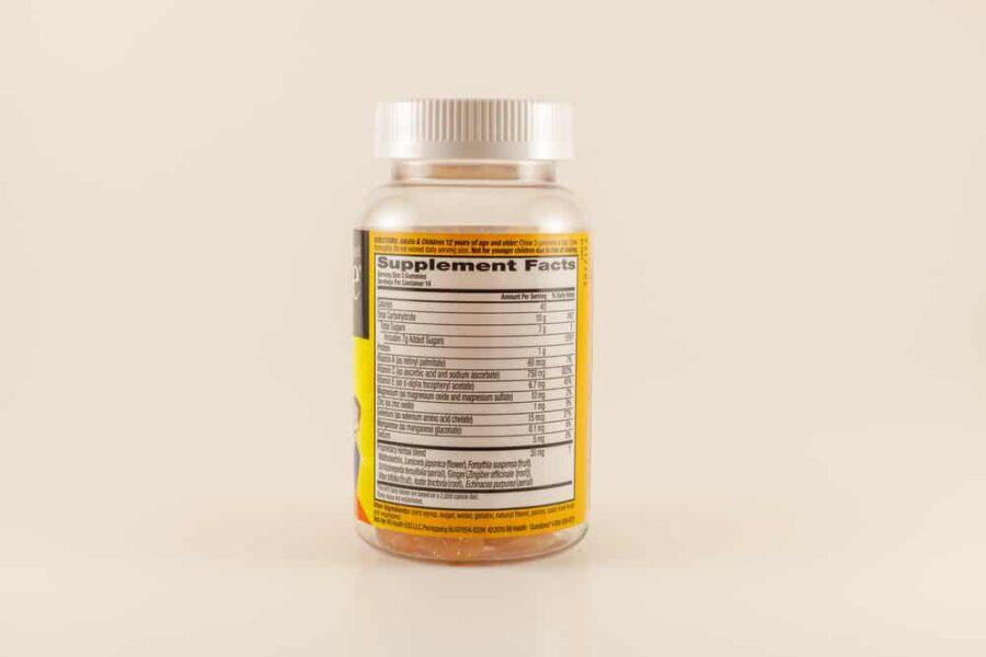 Airborne tablets ingredients back label