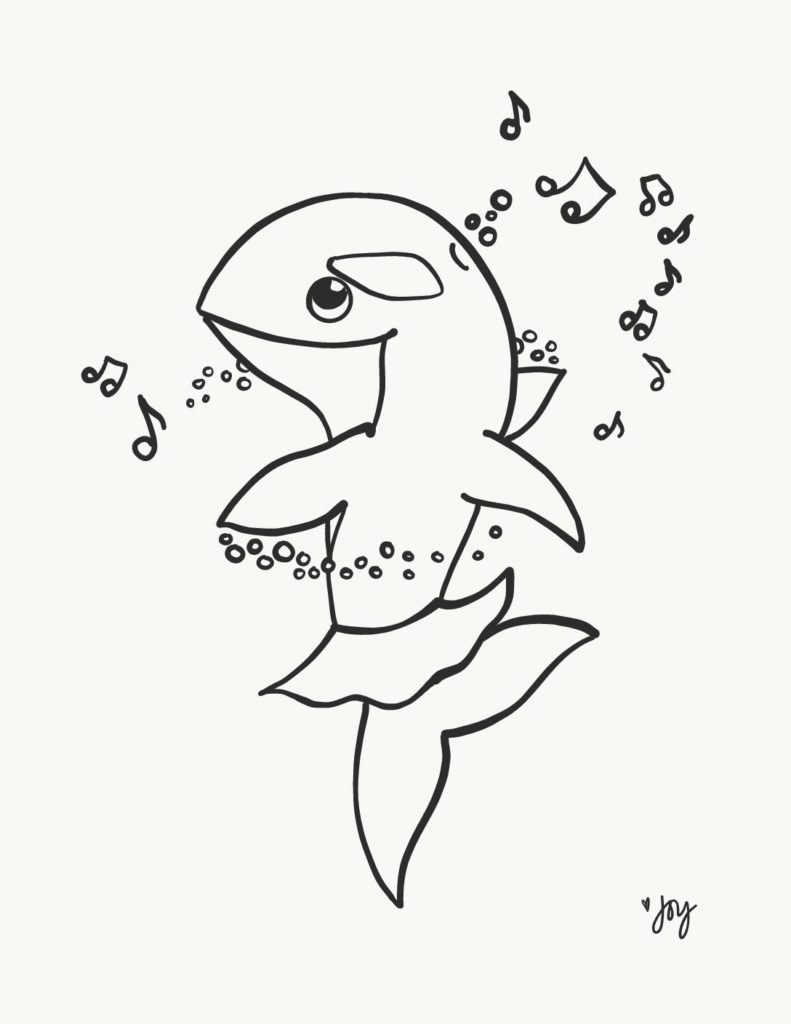 Freebie Alert: Baila Ballena Coloring Sheet