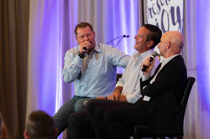 MLB All-Star Pitcher, Roger Clemens; former NFL Quarterback, Drew Bledsoe; and ESPN Sportscaster, Sean McDonough