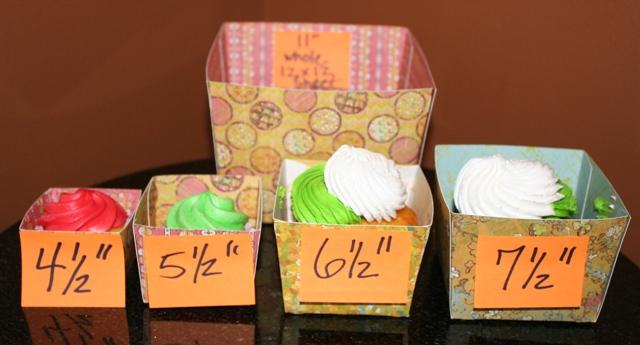 Cricut Sweet Treats Cupcake Wrapper Sizes!!